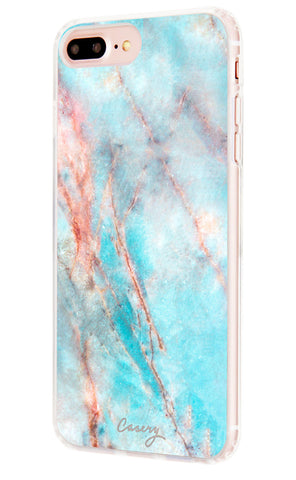 Frosty Marble iPhone 7/6s/6 Plus Designer Case Side View