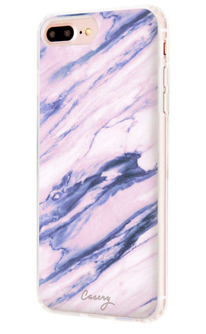 Purple Marble iPhone 7/6s/6 Plus Designer Case Side View