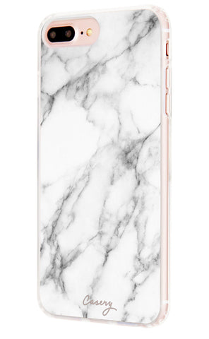 White Marble iPhone 7/6s/6 Plus Designer Case Side View
