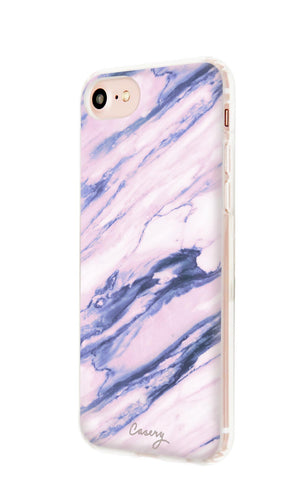 Purple Marble iPhone 7/6s/6 Designer Case Side View