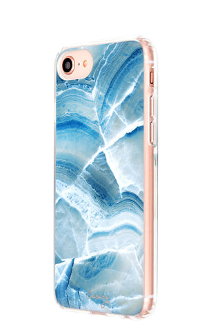 Aqua Marble iPhone 8 Designer Case Side View