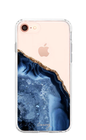 Dark Blue Agate iPhone 8 Designer Case