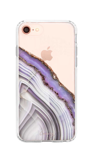 Light Purple Agate iPhone 8 Designer Case