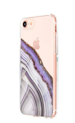Light Purple Agate iPhone 8 Designer Case Side View