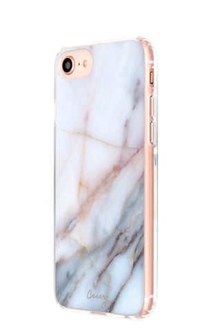 Neutral Marble iPhone 8 Designer Case Side View