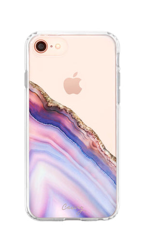 Pink & Blue Agate iPhone 8 Designer Case