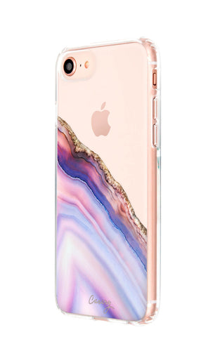 Pink & Blue Agate iPhone 8 Designer Case Side View