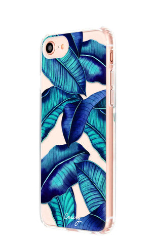 Tropical Leaves iPhone 8 Designer Case Side View