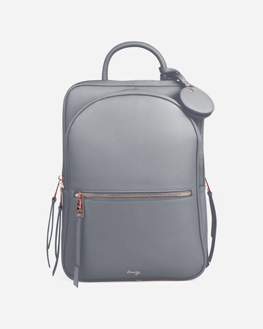 Paris Travel Backpack Gray Designer Case