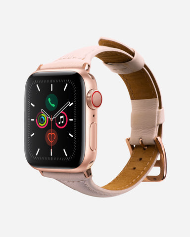 Leather Band for Apple Watch Blush Designer Case