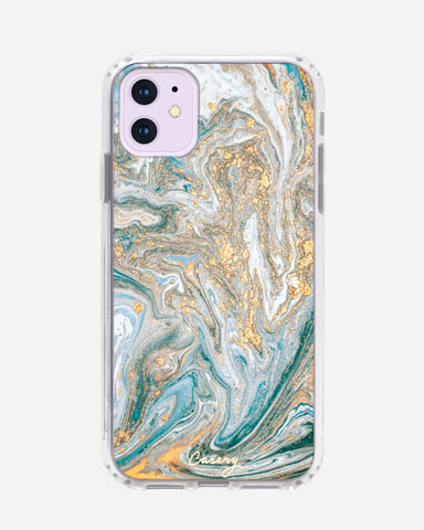 Blue & Gold Marble iPhone 11 Designer Case