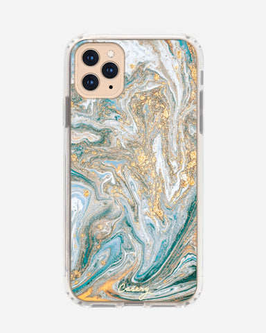 Blue & Gold Marble iPhone 11 Pro Designer Case