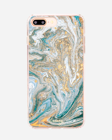 Blue & Gold Marble iPhone 8/7/6/6s Plus Designer Case