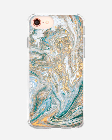 Blue & Gold Marble iPhone 8/7/6/6s Designer Case