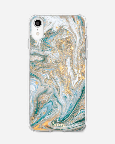 Blue & Gold Marble iPhone XR Designer Case