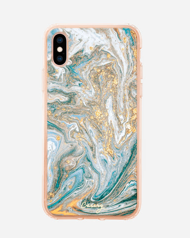 Blue & Gold Marble iPhone XS MAX Designer Case