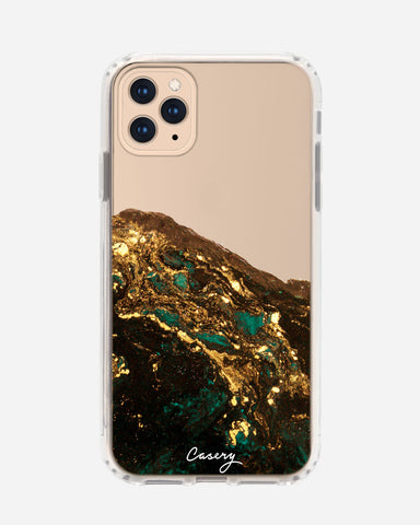 Green & Gold Agate iPhone 11 Pro Max Designer Case