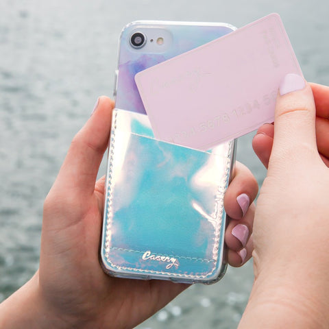 Phone Pocket Holographic Designer Case Side View