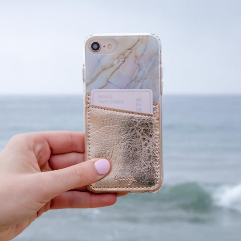Phone Pocket Rose Gold Designer Case Side View