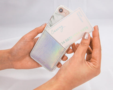 Phone Pocket Iridescent Designer Case Side View