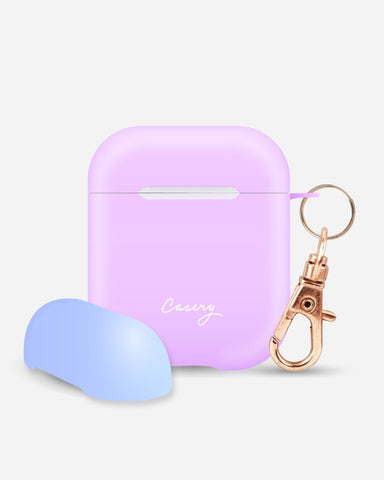 AirPods Cover Lilac + Blue Designer Case