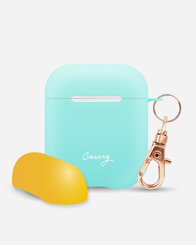 AirPods Cover Tropical Blue + Coral Designer Case