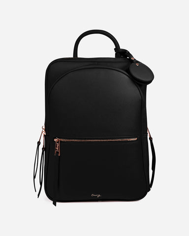 Paris Travel Backpack Black Designer Case