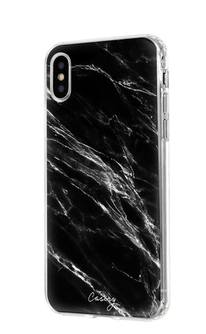 Black Marble iPhone X/Xs Designer Case Side View