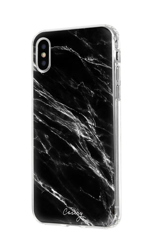 Black Marble iPhone XS MAX Designer Case Side View
