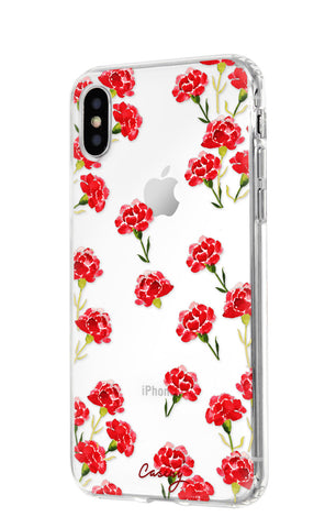 Carnation Nation iPhone X/Xs Designer Case Side View
