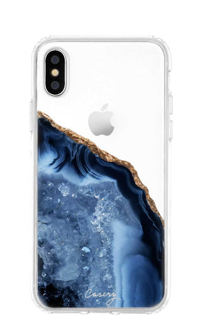 Dark Blue Agate iPhone XS MAX Designer Case
