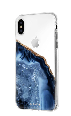 Dark Blue Agate iPhone XS MAX Designer Case Side View