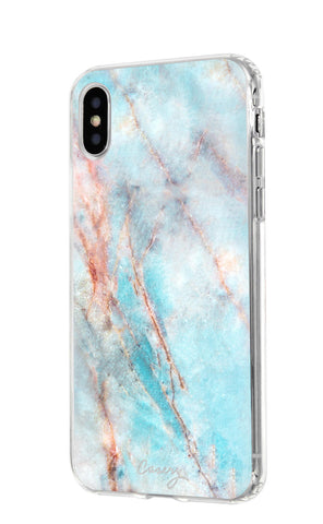 Frosty Marble iPhone X/Xs Designer Case Side View
