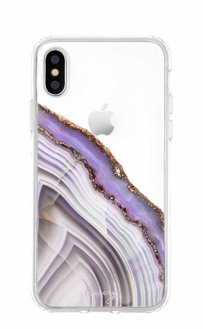 Light Purple Agate iPhone X/Xs Designer Case