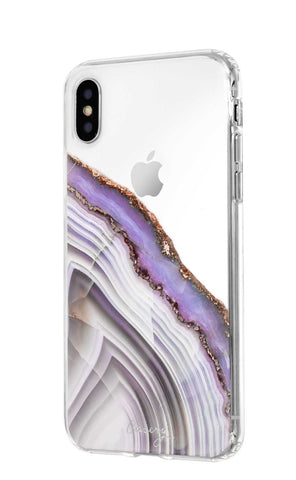Light Purple Agate iPhone X/Xs Designer Case Side View