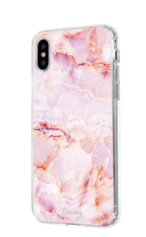 Rose Marble iPhone X/Xs Designer Case Side View