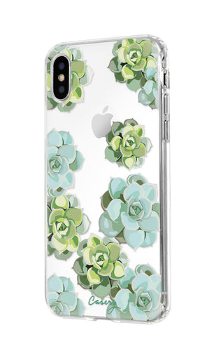 Succulents iPhone X/Xs Designer Case Side View