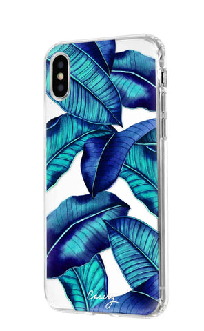 Tropical Leaves iPhone XS MAX Designer Case Side View
