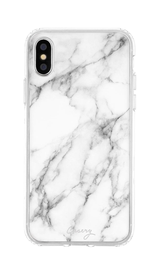 White Marble Clear Case iPhone X  303652418