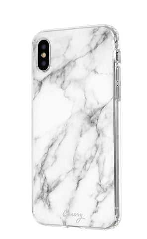 White Marble iPhone XR Designer Case Side View