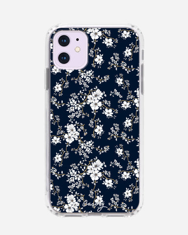 Blue & Gold Floral iPhone 11 Designer Case