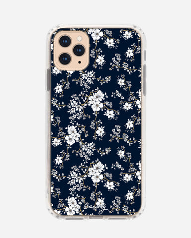 Blue & Gold Floral iPhone 11 Pro Max Designer Case