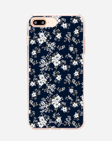 Blue & Gold Floral iPhone 8/7/6/6s Plus Designer Case