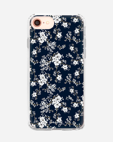 Blue & Gold Floral iPhone SE 2020 Designer Case