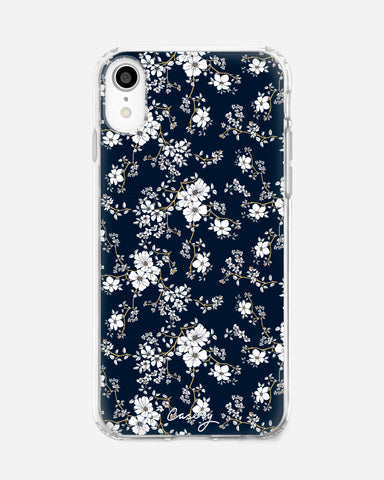 Blue & Gold Floral iPhone XR Designer Case