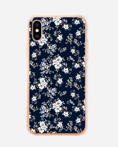 Blue & Gold Floral iPhone XS MAX Designer Case