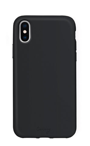Black Silicone iPhone X/Xs Designer Case