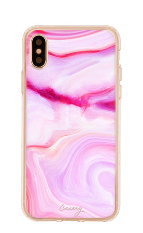 Raspberry Marble iPhone X/Xs Designer Case