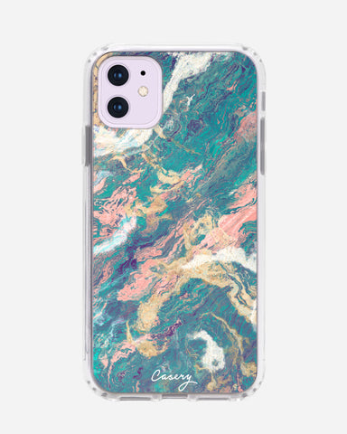 Turquoise & Rose Gold Marble iPhone 11 Designer Case