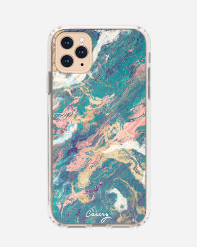 Turquoise & Rose Gold Marble iPhone 11 Pro Designer Case